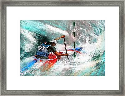 Olympics Canoe Slalom 02 Framed Print by Miki De Goodaboom