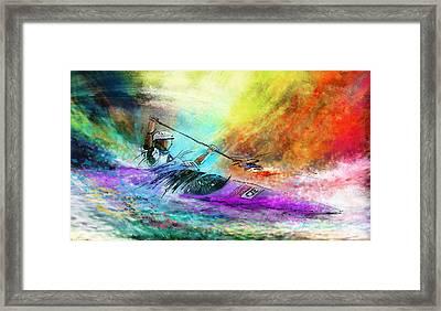 Olympics Canoe Slalom 03 Framed Print by Miki De Goodaboom