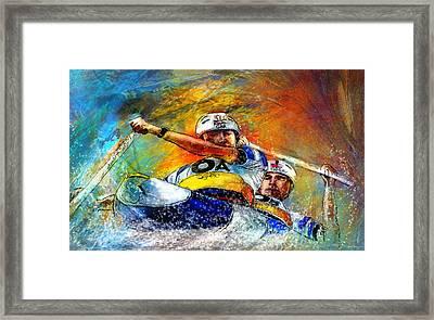 Olympics Canoe Slalom 04 Framed Print by Miki De Goodaboom