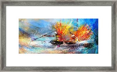 Olympics Canoe Slalom 05 Framed Print by Miki De Goodaboom