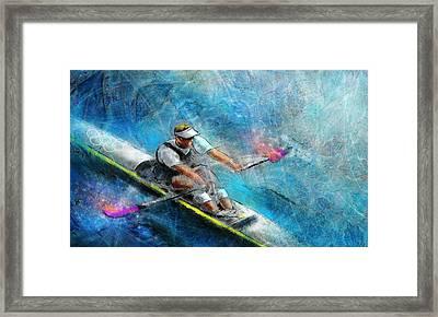 Olympics Rowing 01 Framed Print by Miki De Goodaboom
