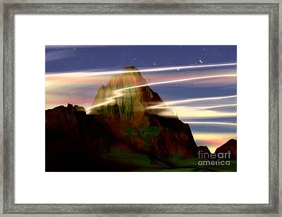 Framed Print featuring the painting Olympus by Pet Serrano