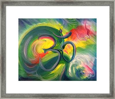 Om Framed Print by Jennifer Rose Hill