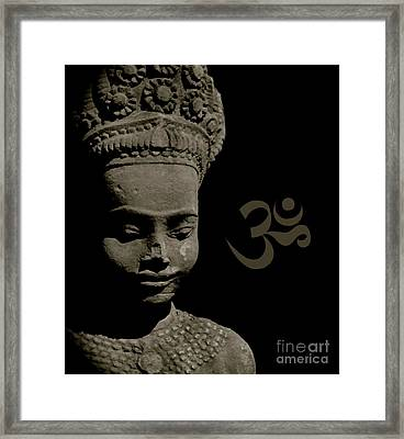 Om Framed Print by Louise Fahy