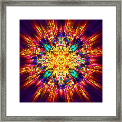 Framed Print featuring the painting Om Mani Padme Hum by Jalai Lama