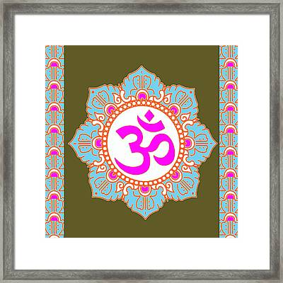 Framed Print featuring the photograph Om Mantra Ommantra 3 by Navin Joshi