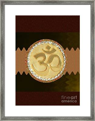 Om Mantra Ommantra Hinduism Symbol Sound Chant Religion Religious Genesis Temple Veda Gita Tantra Ya Framed Print