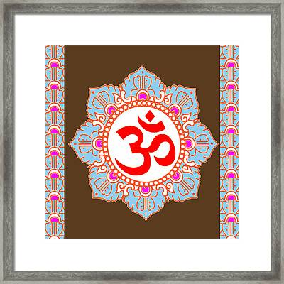 Framed Print featuring the photograph Om Mantra Ommantra by Navin Joshi