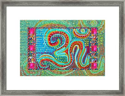 Om Mantra Ommantra Symbol Yoga Meditation Spiritual Framed Print by Navin Joshi