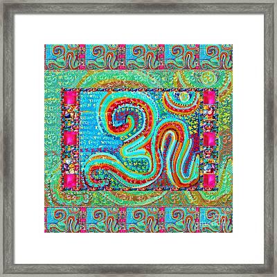 Om Mantra Ommantra Symbol Yoga Meditation Spiritual Work Framed Print
