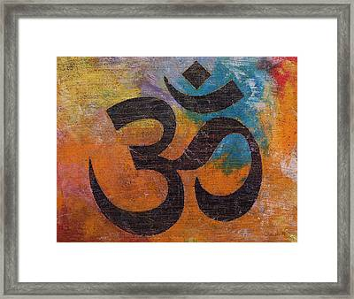 Om Framed Print by Michael Creese