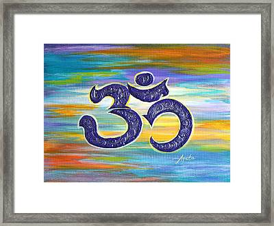 Om Purple Framed Print