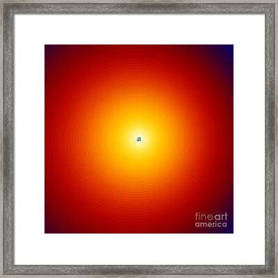 Om Relaxation Circles Framed Print by M Rao