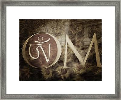 Om Sepia Framed Print