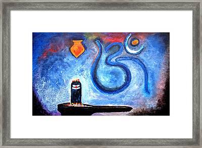 Om Shiv Lingam Framed Print