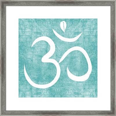 Om Sky Framed Print by Linda Woods