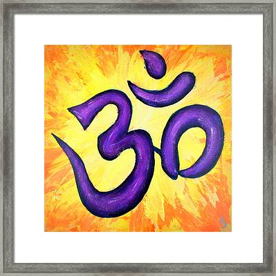 Om Symbol Art Painting Framed Print