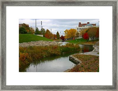 Framed Print featuring the photograph Omaha In Color by Elizabeth Winter