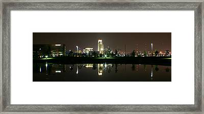 Omaha Skyline Reflection Framed Print
