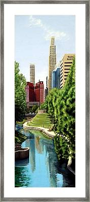 Omaha Skyline Framed Print