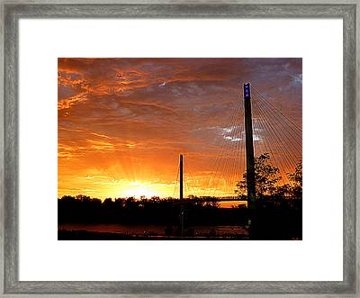 Framed Print featuring the photograph Omaha Sunrise by Jeff Lowe