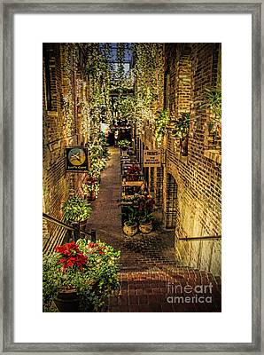 Omaha's Old Market Passageway Framed Print