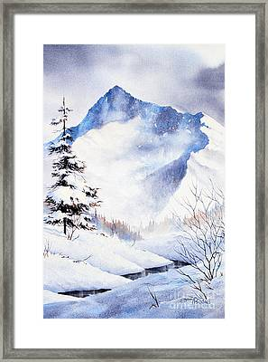 Framed Print featuring the painting O'malley Peak by Teresa Ascone
