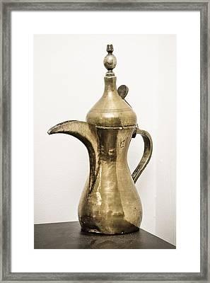 Omani Coffee Pot Framed Print by Tom Gowanlock
