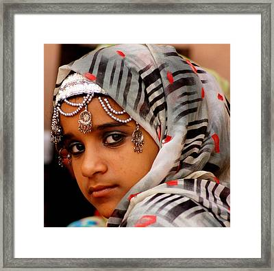 Omani Girl Framed Print