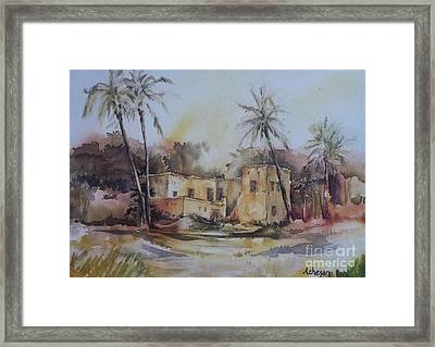 Omani House Framed Print by Donna Acheson-Juillet