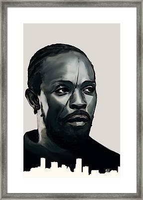Omar Little Framed Print by Jeff DOttavio