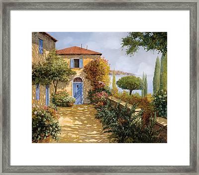 Ombre Sul Terrazzo Framed Print by Guido Borelli