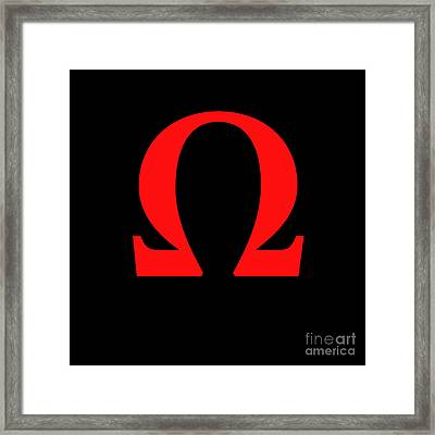Omega Framed Print by Bruce Stanfield