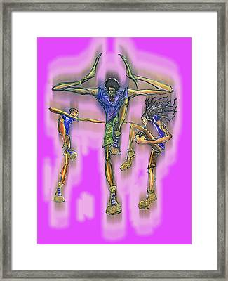 Omega Psi Phi Framed Print by Tu-Kwon Thomas
