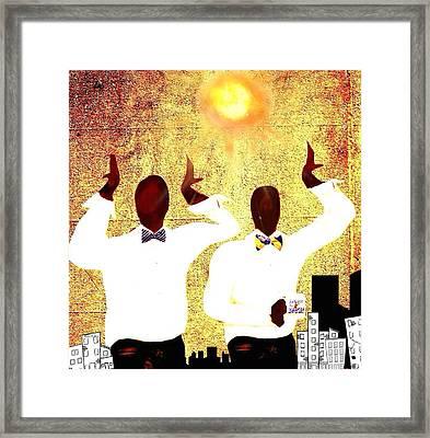 Omega Under The Sun Framed Print by Romaine Head