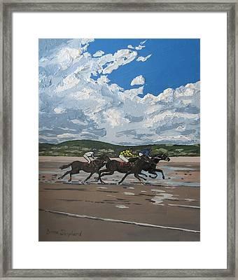 Omey Horse Races Cladaghduff Connemara Ireland Framed Print
