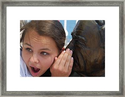 Framed Print featuring the photograph OMG by Ramona Whiteaker
