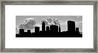 Ominous Cleveland Silhouette Framed Print by Frozen in Time Fine Art Photography