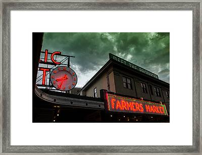 Ominous Scene At The Market Framed Print by Brian Xavier