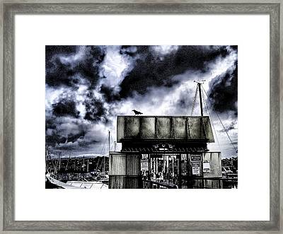 Ominous Sign Framed Print