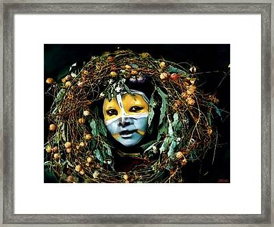 Omo Valley Man With Wreath Framed Print by Jann Paxton