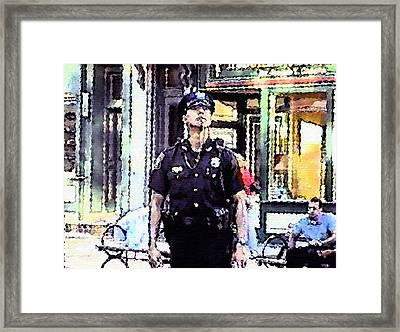 On 9/11 -  Moment Of Pause Framed Print
