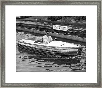 On A Boat Ride At Playland Framed Print by Underwood Archives