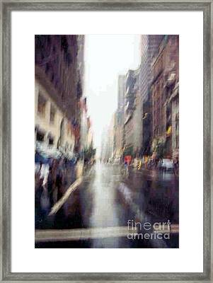 Framed Print featuring the photograph On A Clear Day 5th Ave New York by Michael Hoard
