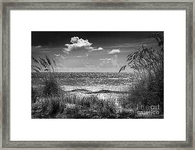 On A Clear Day-bw Framed Print