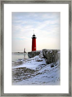 On A Cold Winter's Morning Framed Print