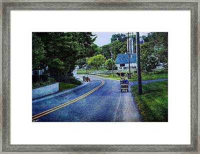 On A Country Road - Lancaster - Pennsylvania Framed Print