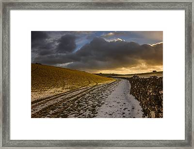 On A Country Walk At Sunset Framed Print by Chris Fletcher