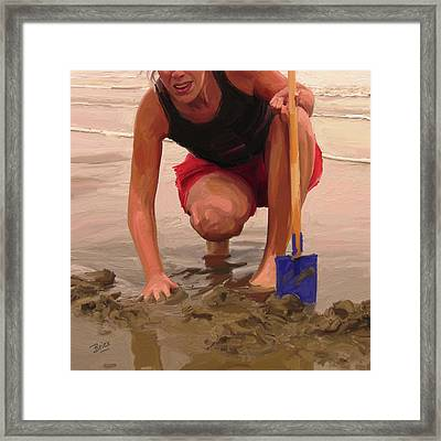 On A Dutch Beach Framed Print by Nop Briex