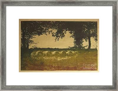 On A Farm In France Framed Print
